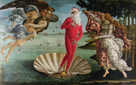 Remixed Holiday Masterpieces - Ed Wheeler Transforms Classic Artworks into Festive Compositions