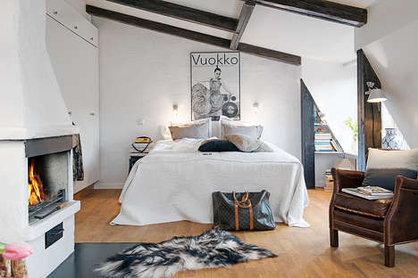 Cuddle-Encouraging Attic Homes - This Attic Apartment in Gothenburg is Perfect for Couples