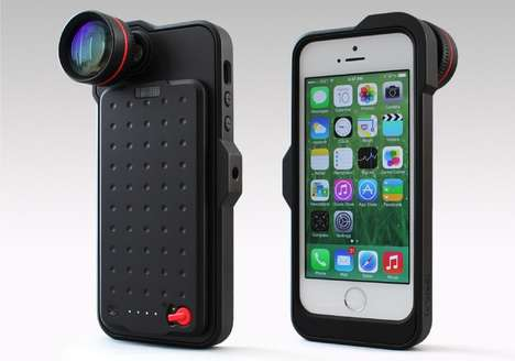 Camera-Enabled Smartphone Cases - The BRIC+ Productivity Case is an iPhone Camera Case