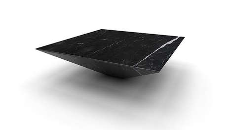 Marble Floating Furniture - Haymann Editions Created a Fashionable Floating Table