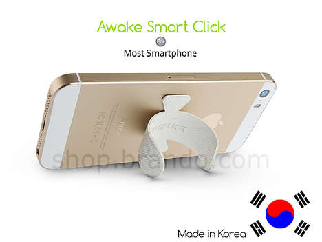 Clip-On Mobile Stands - The Awake Smart Click is a Small Smartphone Stand