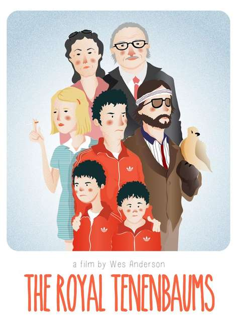 Digital Movie Tribute Art - These Wes Anderson Posters Salute the Director