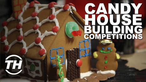 Candy House Building Competitions - Trend Hunter's Gingerbread House Competition Was a Success
