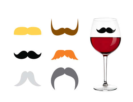 Dapper Drink Labels - Mark Your Territory with These Mustache Drink Markers