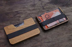 Refined Slim Wooden Wallets - The 'Poquito' is a Little Wooden Wallet