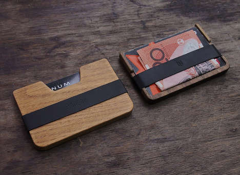 Refined Slim Wooden Wallets - The