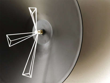 Abstract Analog Chronometers - Perspective Clocks Show the Hour in Mesmerizing Moving Illustrations