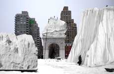 Urban Snow Playgrounds - The Second Hinterlands Project Utilizes Wasted Snow in a Fun Way