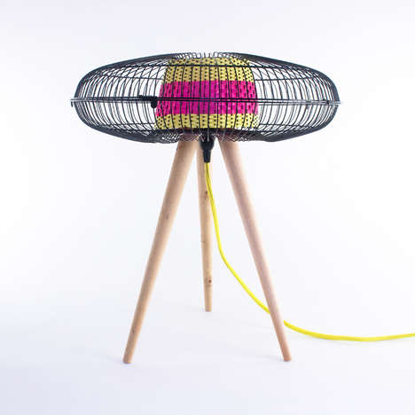 Fan-Infused Floor Lamps - This Fan Lamp Makes Good Use Out of Old Materials