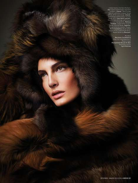 Luxuriously Fur-Filled Editorials - Mariana Coldebella Gets Cozy in L'Officiel Maroc Januar