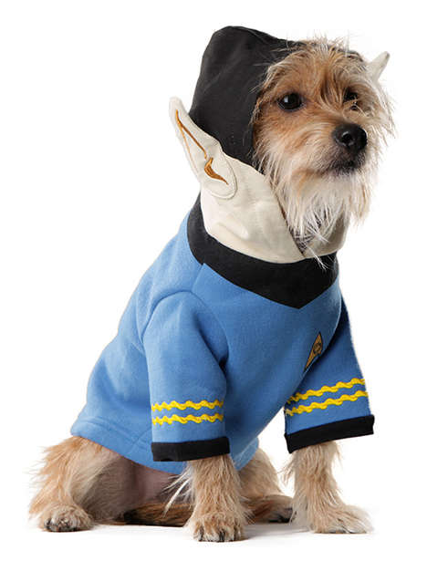 Geeky Dog Garments - The Spock Dog Hoodie Ensures Your Pup Will Live Long and Prosper