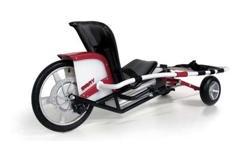 Ski-Simulating Sit-Cycles - The Sway Recreational Vehicle Imitates the Act of Carving Through Snow