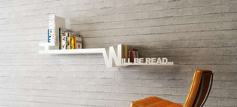 Literally Organized Ledges - The Typographic Bookshelf Describes a Method for Arranging Your Reads