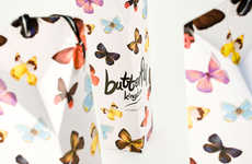 Winsome Winged Branding - Butterfly Kingdom Tea Packaging Has a Colorful Delicacy to Its Design