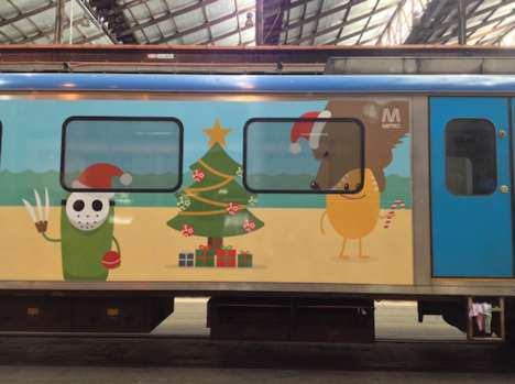 Safety-Promoting Train Ads - The Dumb Ways to Die Metro Ads Promote a Fun and Safe Holiday