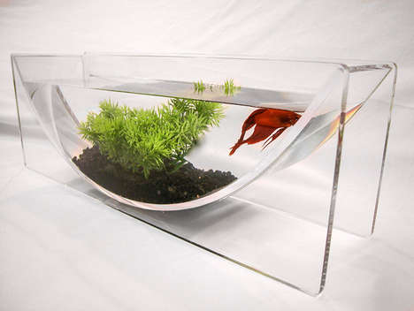 Modern U-Shaped Fish Bowls - Zero Edge Aquarium