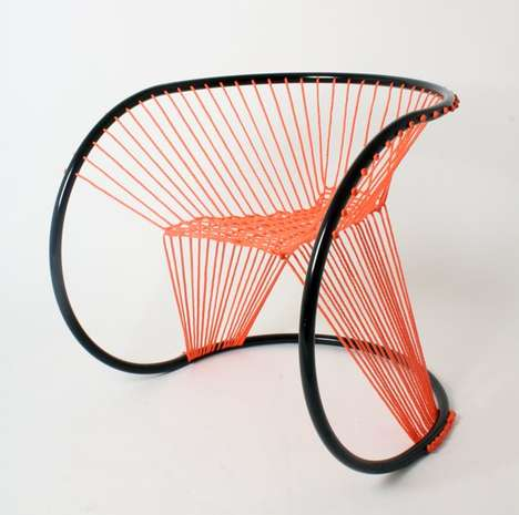 Neon Roped Seating - The Maya Chair by Arya Alfieri is Contemporarily Bright and Intricate