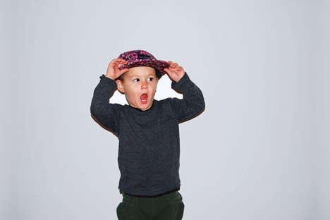 Capped Kid Catalogs - The Agatha Cub Bodega Ruby Hat is a 5 Panel for Children