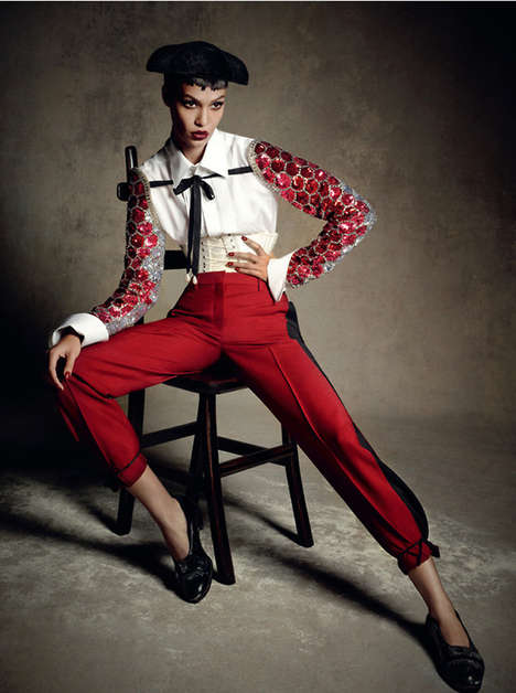 Opulent Matador Couture - This Joan Smalls Vogue Germany Cover Story is Culturally Ornate
