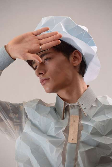 Dimensional Origami Fashions - The Yung Wong Spring/Summer 2014 Collection is Avant-Garde