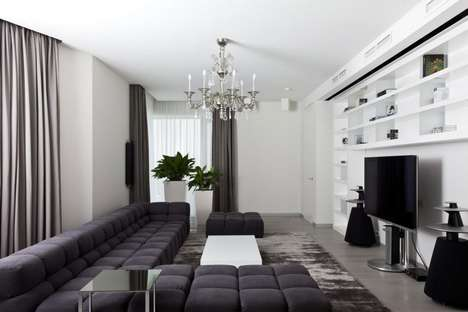Modern Regal Hybrid Homes - This Apartment in Mirax Park Combines Modern with Historic Styles