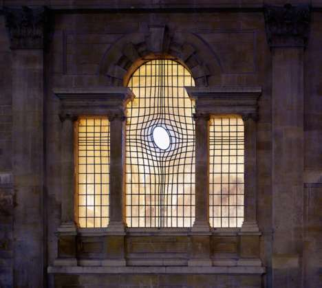 Symbolic Warped Church Windows - The Church of St. Martin in the Fields Has a New Abstract Design