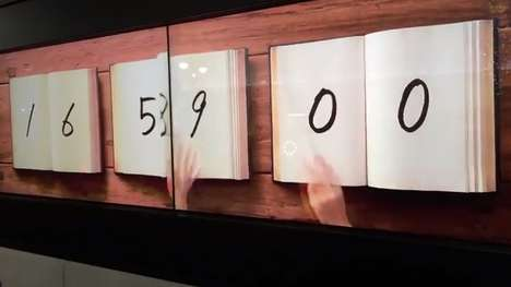Literature Time Keepers - The Book Clock by Masaaki Hiromura Keeps Time in an Unusual Way