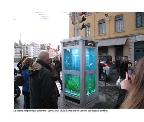 Aquatic Upcycled Phone Booths - Benedetto Bufalino and Benoit Deseille Craft Fishy Telephone Booths