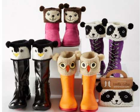Adorable Animal Boot Accessories - These Cute and Cuddly Boot Cuffs Help Feet Stay Warm
