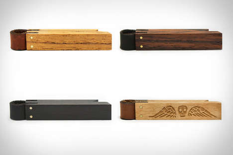 Magnetized Tie Clips - The Ellsworth & Clyde Tie Bar is Rustically Reversible