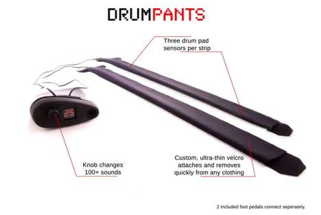 Clothing-Inspired Musical Instruments - DrumPants is a Wearable Instrument You Can Play Anywhere