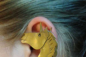 This Unusual Ear Cuff Jewelry Piece Comes in the Shape of a Unicorn