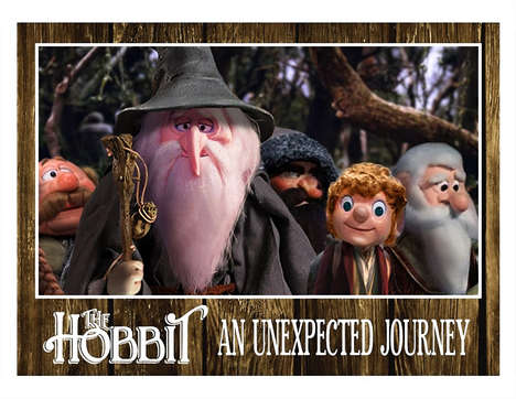 Stop-Motion Movie Art - These Rankin Bass Hobbit Stills are Fun and Nostalgic