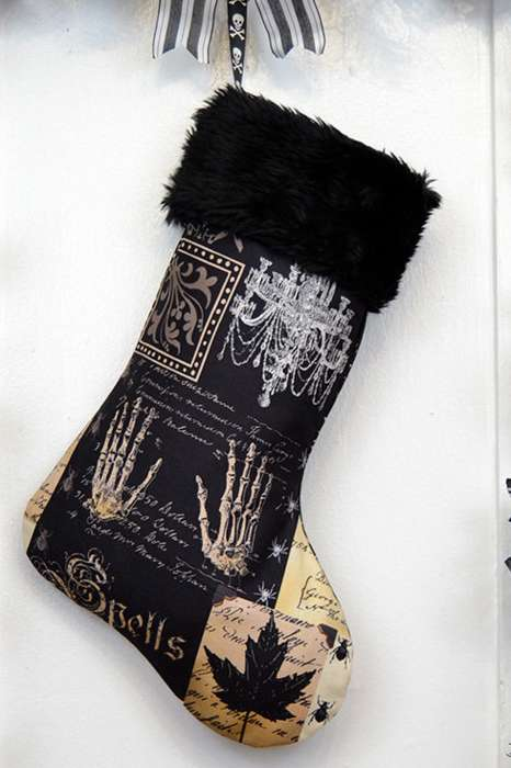 Gothic Christmas Stockings - A Gothic Christmas Stocking Will Put a Little Macabre in Your Holidays