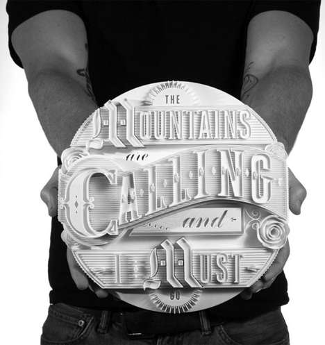 3D Typography Art - These 3D Typography Statues Display Language as Art