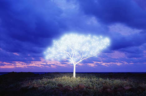 Glowing Topiary Photography - Tree of Life in Island by Lee Jeong Lok is Brightly Fantastical