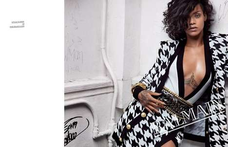 Refined Bad Girl Campaigns - Rihanna is the Stunning Face of Balmain Spring 2014