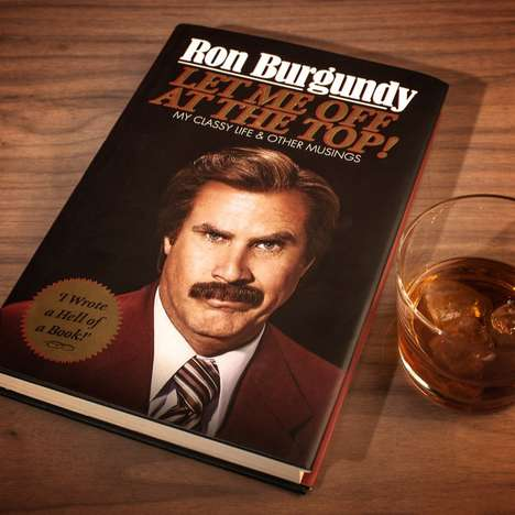 Satirical Anchor Man Autobiographies - The Ron Burgundy Autobiography Reveals a Struggle to the Top