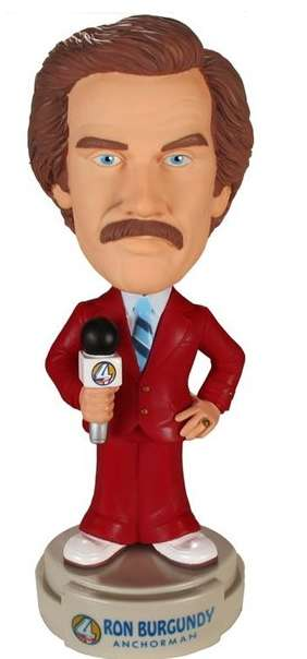 Talking Anchorman Bobble Heads - This Ron Burgundy Anchorman Bobble Head Keeps Things Classy