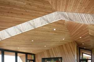 The Sokol Blosser Tasting Room is Inspired by Barrels & Its Vineyard