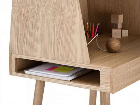 Cozy Domestic Carrels - The Vilfred Desk Establishes a Comfy Enclosed Space to Enable Productivity