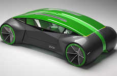 Reversible Concept Cars - The Zoox Level 4 Autonomous Vehicle Can Drive You in Either Direction