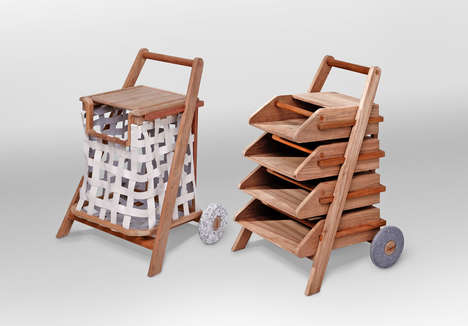 Chore Completing Carts - This Laundry Cart Can Hold More than Just Clothes