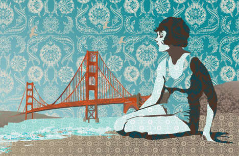 Retro Northern Californian Illustrations - Fishkin Draws Retro Iconic Landmarks in San Francisco