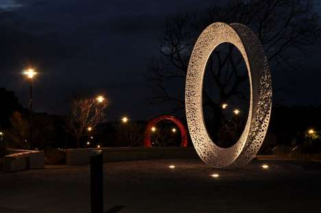 Circular Outdoor Sculptures - Stuart Green