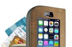 Concealed Chic Phone Wallets - The Cazlet is a Leather iPhone Wallet That is Multi-Functional