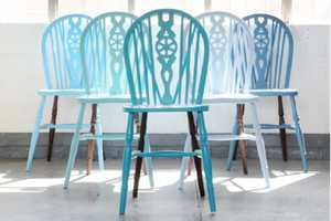 19th Century Wheelback Chairs are Treated to Contemporary Flair