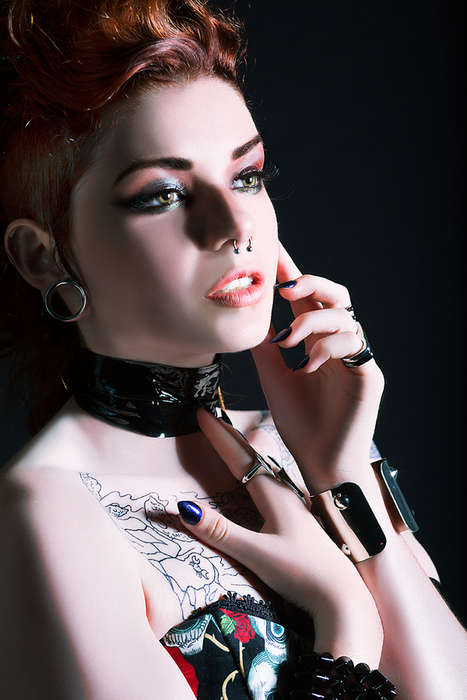 Glamour Punk Spotlight Shoots - Tattooed Model Cait Lion Gets Fierce for the Camera