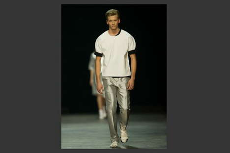 Celebratory Metallic Menswear - The Calvin Klein SS 2014 Collection Goes Platnium