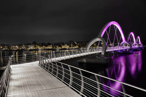 Illuminated Ephemeral Bridges - The Sölvesborg Bridge Uses Lights to Show Off its Dramatic Arch